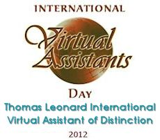 Thomas Leonard Virtual Assistant of Distinction Award Nominee